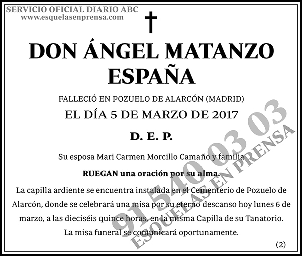 Ángel Matanzo España